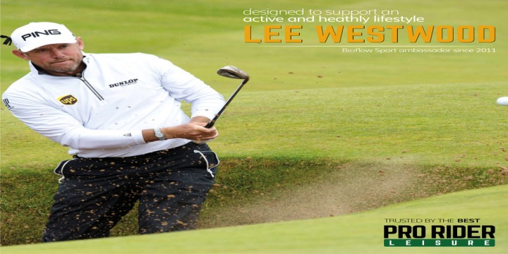 Lee Westwood wearing his Bioflow magnetic bracelet