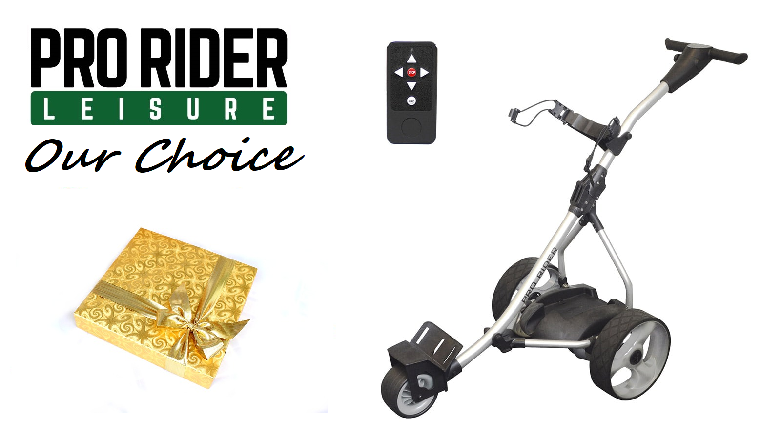 Pro Rider Remote Control Golf Trolley with Present and text