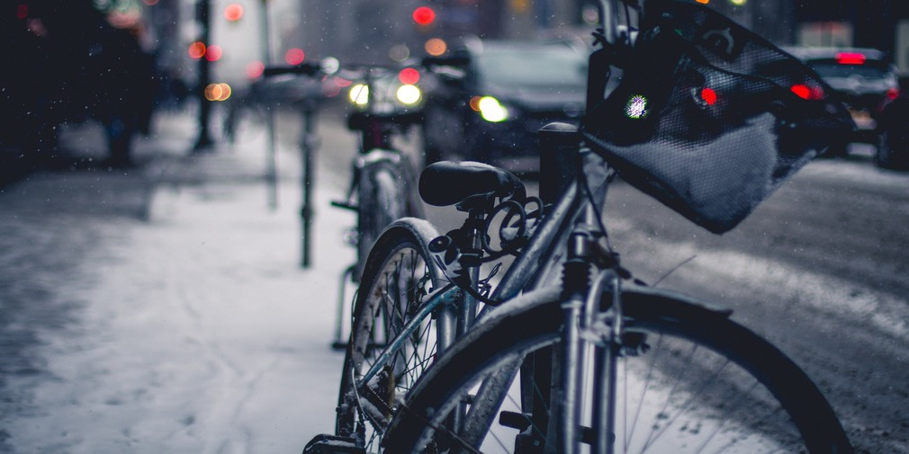 Bike in Wintery City