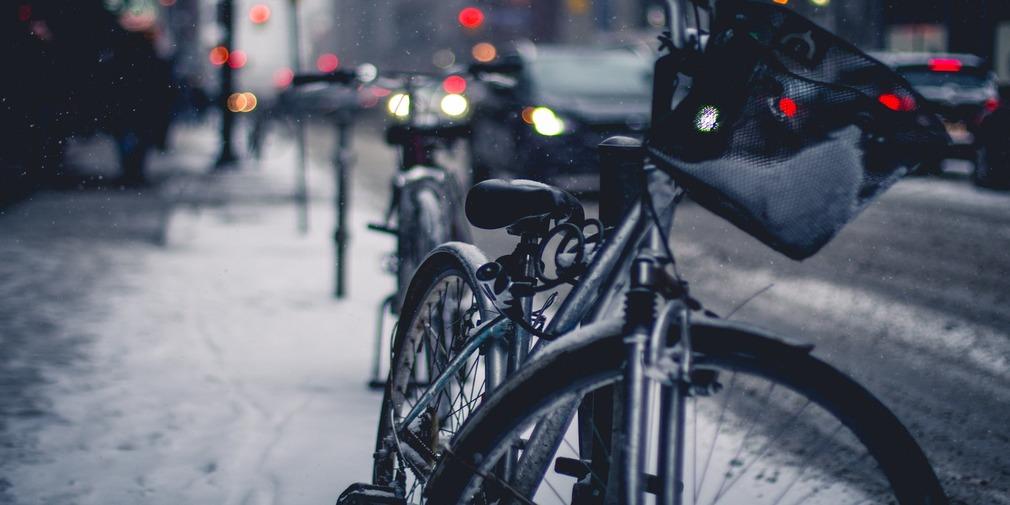 Bike in Wintery City