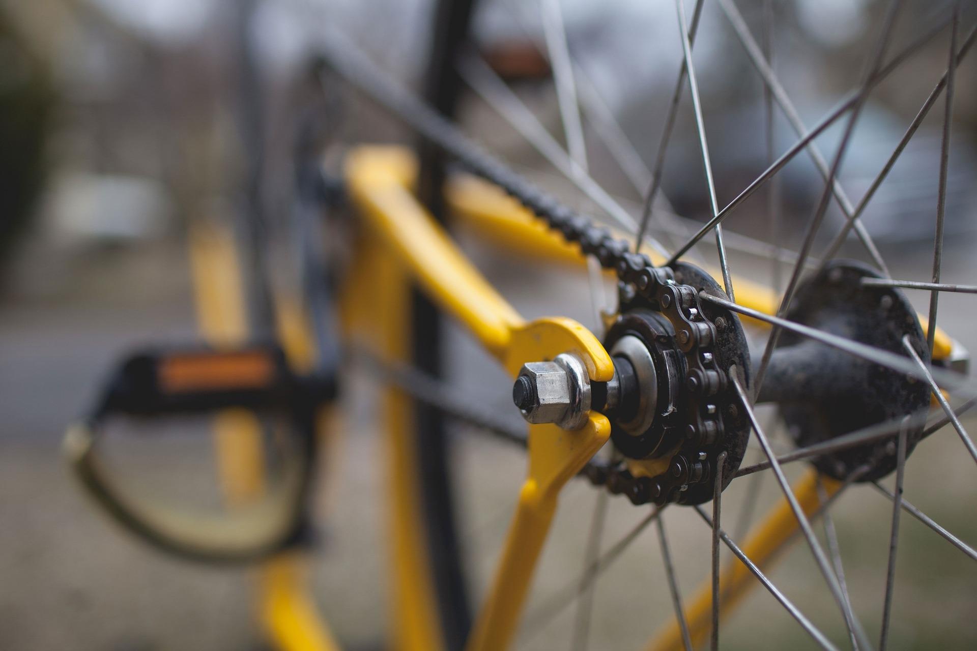 Close up of bike chain